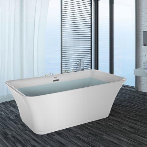 "59"" X 30"" Freestanding Soaking Bathtub"