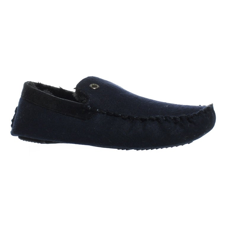 7f2170f5908d1 Shop Steve Madden Mens Navy Moccasin Slippers Size 9 - On Sale - Free  Shipping On Orders Over $45 - Overstock - 23571453