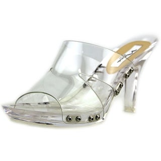 Nina Reddy Women Open-Toe Synthetic Clear Mules