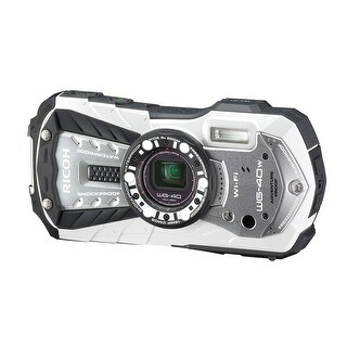 RICOH Waterproof digital camera RICOH WG-40 White (International Model)