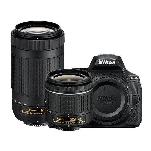 Nikon D5600 DSLR Camera w/ 18-55mm f/3.5-5.6G VR & 70-300mm f/4.5-6.3G ED Lenses