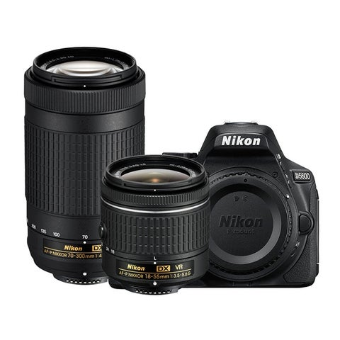 Nikon D5600 DSLR Camera w/ 18-55mm f/3.5-5.6G VR & 70-300mm f/4.5-6.3G ED Lenses