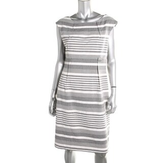 Calvin Klein Womens Wear to Work Dress Striped Sleeveless - 6