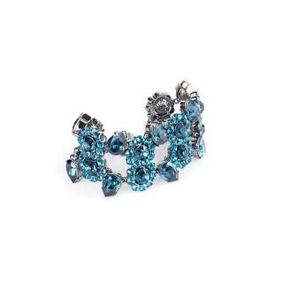 Cavalli Womens Blue Swarovski Crystal Gunmetal Bracelet