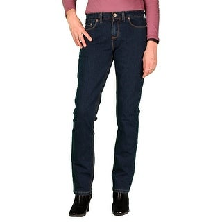 Dickies Womens Curvy Fit Stretch Straight-Leg Jean