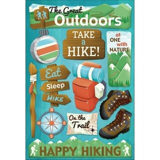 Cardstock Stickers-Take A Hike