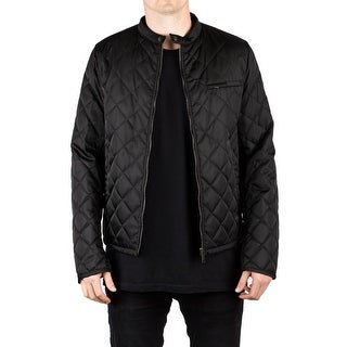Prada Men's Quilted Nylon Viscose Windbreaker Jacket Navy Black