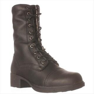 Cougar Nooch Combat Boots - Black