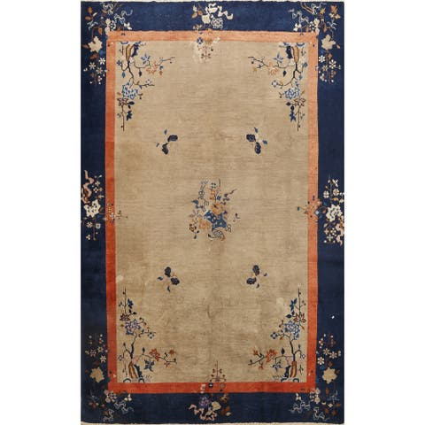 """Antique Transitional Art Deco Chinese Oriental Area Rug Wool Handmade - 8'11"""" x 11'8"""""""