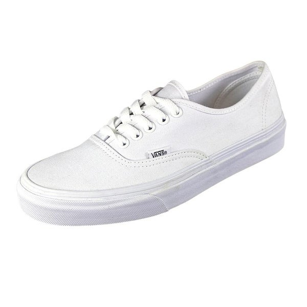 Vans Authentic Women Round Toe Canvas White Sneakers