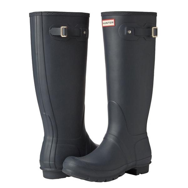 Hunter Women's Original Tall Rain Boots (Navy/ Size 8). Opens flyout.