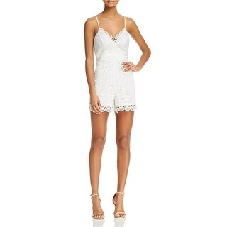 Bardot Womens Versailles Romper Embroidered V-Neck (2 options available)