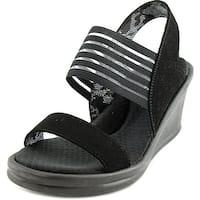 Skechers Rumblers-Sci-fi Women  Open Toe Synthetic Black Wedge Sandal