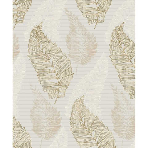 Christal, Leaf Wallpaper, 21 in x 33 ft = About 57.8 square feet