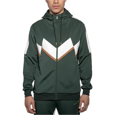 Sean John Mens Chevron Zip Hoodie Sweatshirt