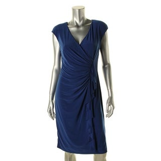 American Living Womens Matte Jersey Ruched Cocktail Dress