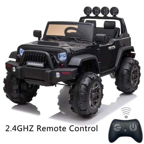 "12V Kids Ride On Car SUV MP3 2.4GHZ Remote Control LED Lights Black - 7'6"" x 9'6"" - 7'6"" x 9'6"""