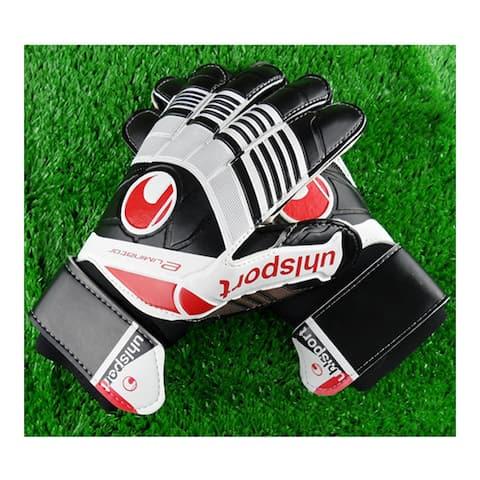 Colorful Non-slip Goalkeeper Gloves Roll Finger - Black - 9