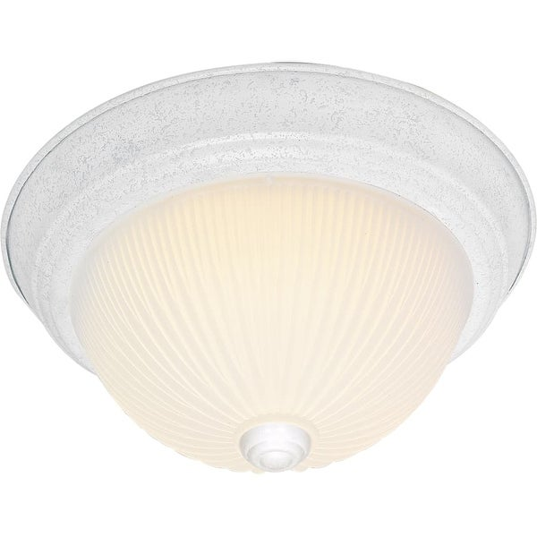 "Nuvo Lighting 76/131 2 Light 11-1/4"" Wide Flush Mount Bowl Ceiling Fixture - textured white"
