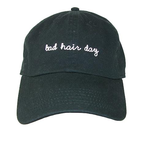 David & Young Bad Hair Day Embroidered Cotton Baseball Cap