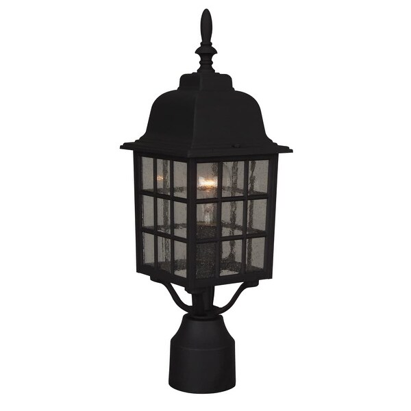 Craftmade Z275 Grid Cage 1-Light Outdoor Post Light - N/A