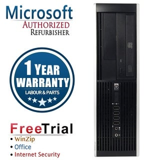Refurbished HP Compaq Pro 6300 SFF Intel Core I5 3470 3.2G 8G DDR3 320G DVD WIN 10 Pro 64 1 Year Warranty - Black