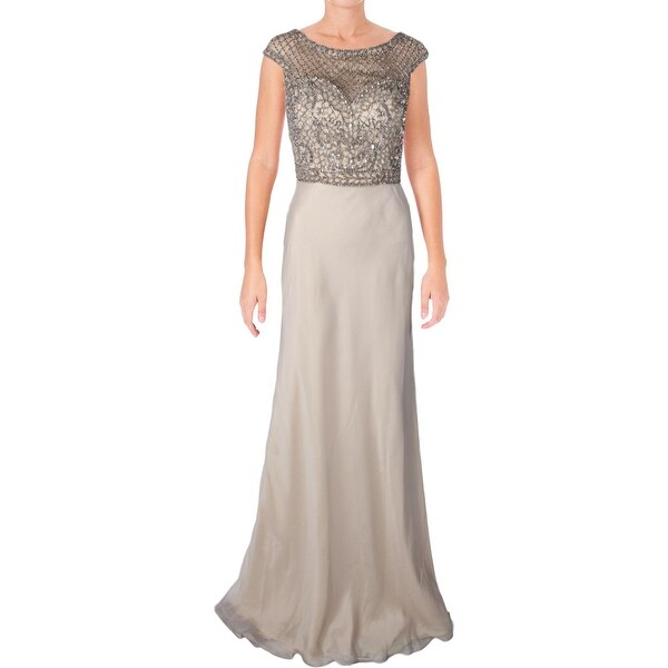 89b5758c979 Shop Terani Couture Chiffon Embellished Formal Dress - Free Shipping ...