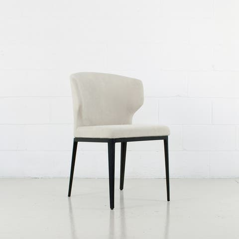 Cabo Mid-century Modern Chenille Wingback Chair - Contract Grade