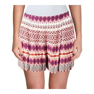 Jessica Simpson Womens Izzy Casual Shorts Printed High Rise