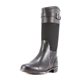 Chooka Bolero Women Round Toe Synthetic Black Rain Boot