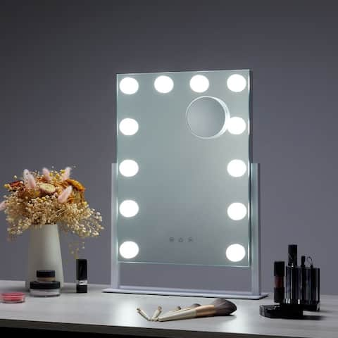 CO-Z Vanity Hollywood Makeup Mirror with 12 Dimmable LED Lights