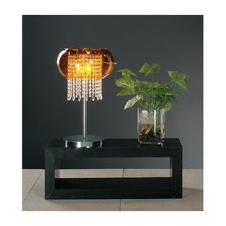 PLC Lighting PLC 87730 Crystal Table Lamp from the Poem Collection - Silver