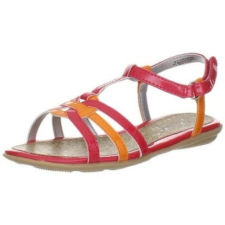 Balleto Girls Strappy Contrast Trim Sandals - 5 wide (c,d,w)