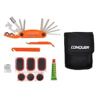 Multi Function Bike Tool with Patch Kit & Tire Levers 18 Function
