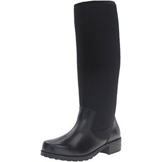SoftWalk Womens Biloxi Knee-High Boots Leather Stacked Heel - 6 medium (b,m)
