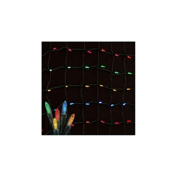 Christmas at Winterland S-4X6MM5M-NG 4X6 Foot M5 Multicolor LED Net Lights