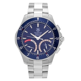 Tag Heuer Men's 'Aquaracer' CAF7110.BA0803 Stainless Steel Blue Chronograph Link Watch