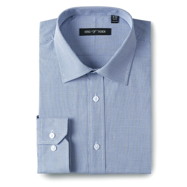 Men's Classic/Regular Fit 100% Cotton Long Sleeve Textured Dress Shirt. Opens flyout.