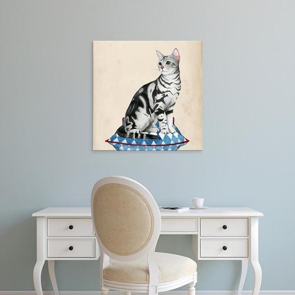 Easy Art Prints Grace Popp's 'Lady Cat I' Premium Canvas Art