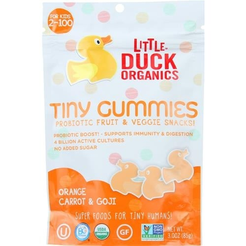 Little Duck Organics - Orange Carrot Tiny Gummies ( 6 - 3 OZ)