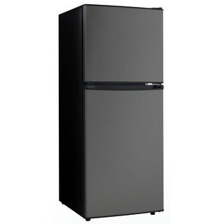 "Danby DCR047A1  19"" Wide 4.7 Cu. Ft. Energy Star Free Standing Top Mount Refrigerator - Black Stainless Steel"