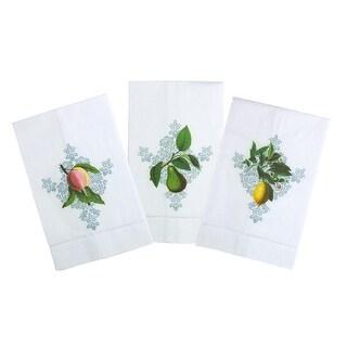 Fruits of the Vine Printed Tea Towel, Linen Set of 3
