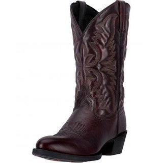 Laredo Western Boots Mens 12 Inch Shaft Leather Round Toe Black 68458