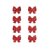 Mini Red Glitter Bow Pasties, Red Glitter Pasties - One Size Fits Most