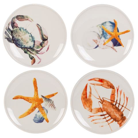 Fitz and Floyd Newport Home Sea Life Accent Plate (Set Of 4)