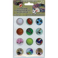 """.75"""" Gel Stickers For Paracord Charms & Buckles 12/Pkg-Sport"""