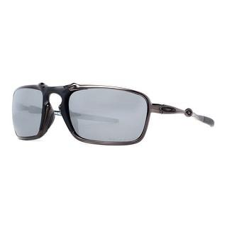 OAKLEY Sport Badman OO6020-01 Men's 6020-01 Dark Carbon Polarized Grey Mirror Sunglasses - 60mm-21mm-135mm