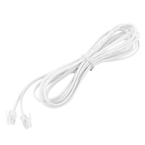 8.5Ft 4P4C Telephone Handset Receiver Extension Cord Phone Coil Telephone Cable