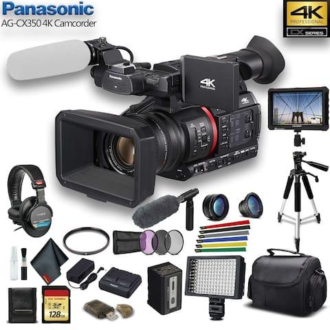 Panasonic 4K Camcorder W/ Padded Case - Advanced W/ Mic Bundle