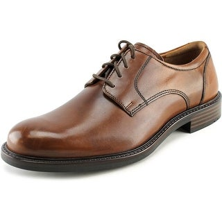 Johnston & Murphy Tabor  Men W Round Toe Leather Tan Oxford